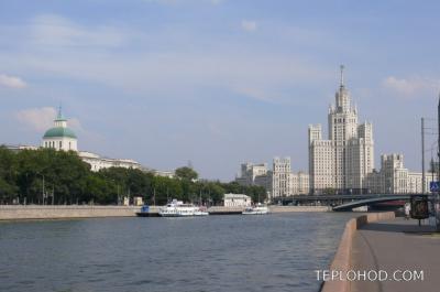 Все набережные Москвы и причалы, расположенные на них