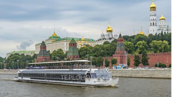 Трехчасовой круиз по центру Москвы на теплоходе класса